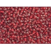 Seedbead 8/0 Silver Lined Red